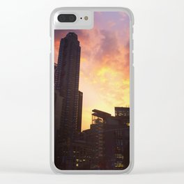 On fire Clear iPhone Case