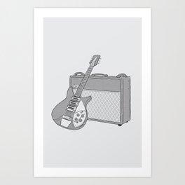 John's Guitar Rig Art Print