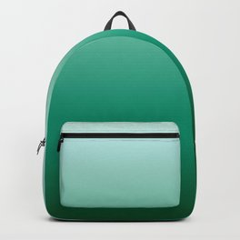 Ombre Teal Green Gradient Pattern Backpack