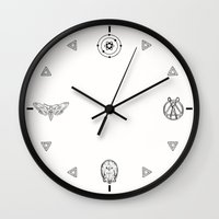 suits Wall Clocks featuring Suits by nijikon
