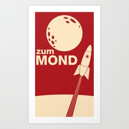 Zum Mond Art Print