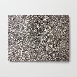 Wavy Metal Print