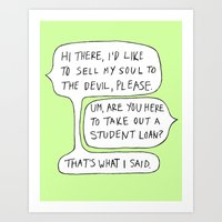 college Art Prints featuring college by s t i n g s
