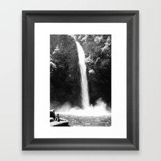 Getting Wet Framed Art Print