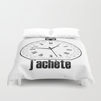 watch Duvet Covers featuring Watch by antonio&marko