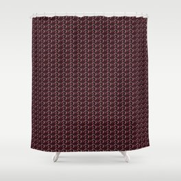 Coca Cola inspired pattern Shower Curtain