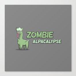 Zombie Alpacalypse Canvas Print