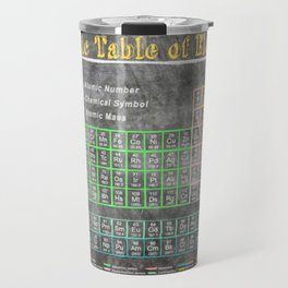Old School Periodic Table Of Elements - Chalkboard Style Travel Mug