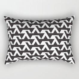 Zigzag Brick / Black and White Rectangular Pillow