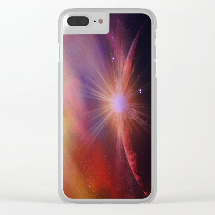 Mars rises Clear iPhone Case