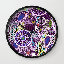 Tribal Patchwork Wall Clock
