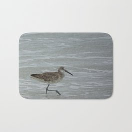 Sandpiper With A Leg Up Bath Mat