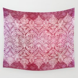 ABERDEEN HEIRLOOM, LACE & DAMASK: REBECCA'S RED Wall Tapestry