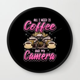 Camera Photography Photo Pictures Coffee Gift Wall Clock