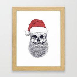 Santa skull Framed Art Print