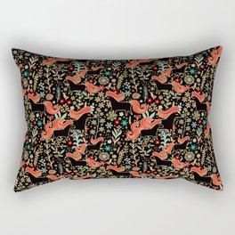 Sleepy horses, summer night Rectangular Pillow