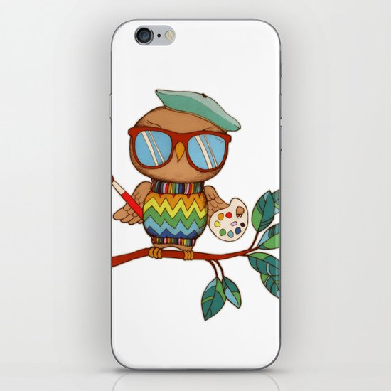 Little Wise Artist iPhone & iPod Skin
