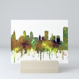 Buffalo, New York Skyline - SG Safari Buff Mini Art Print