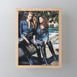 Double Denim Framed Mini Art Print
