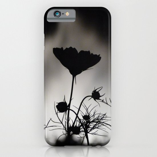 Flower in black and white iPhone & iPod Case