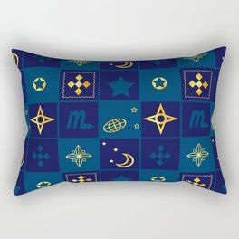 Night Waltz of the planets. Rectangular Pillow