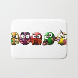 Owls Family Bath Mat