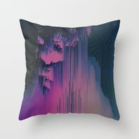 fringe Throw Pillows featuring Pink Fringe by DuckyB