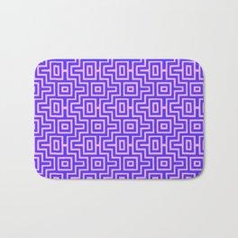 Plum Puzzle - Choctaw Pattern Bath Mat