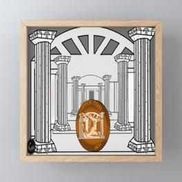 Necropolis Coin Copper 3 Framed Mini Art Print