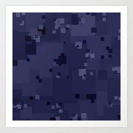 Peacoat Square Pixel Color Accent Art Print