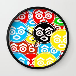 """ZULU NATION: MULTI-COLOR LOGO DUECE"" Wall Clock"