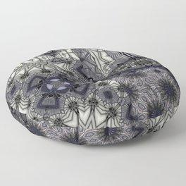 Black Rum Glass Collage Floor Pillow