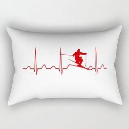 SKIING MAN HEARTBEAT Rectangular Pillow