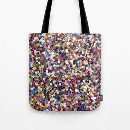 Colorful Rainbow Glittering Confetti Tote Bag