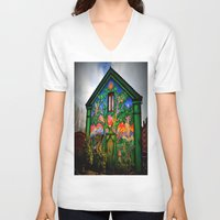 hippy V-neck T-shirts featuring house hippy by  Agostino Lo Coco