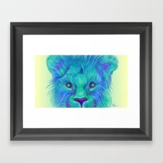 Oscar - Lion Painting Framed Art Print