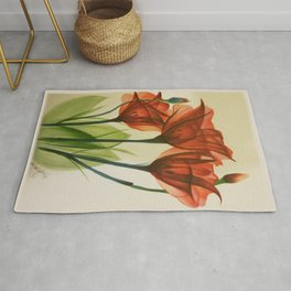 Glass Poppies Rug