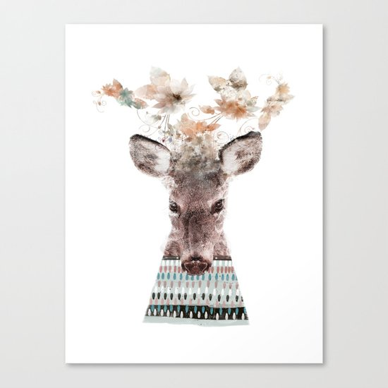 in nature deer Canvas Print