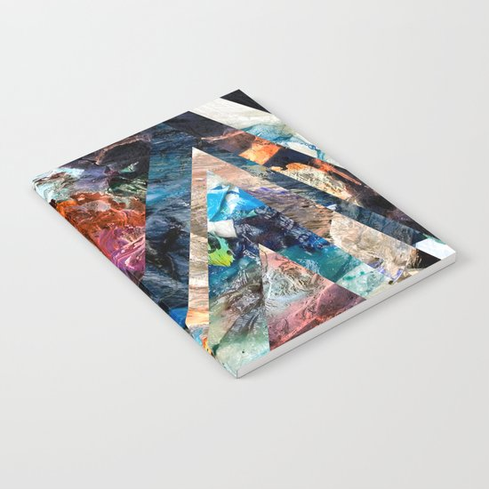 Triangle Forest Abstract Rainbow Notebook