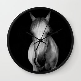 Horse in the Dark Wall Clock