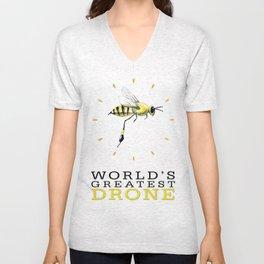 World's Greatest Drone Unisex V-Neck
