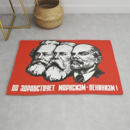 Marx - Engels - Lenin - Soviet Propaganda Poster Rug