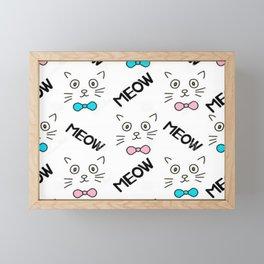 Cat Meow Meow Framed Mini Art Print