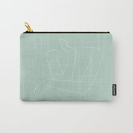 Arms and hands minimal line drawing illustration - Anna Green Carry-All Pouch