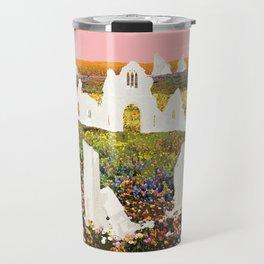 White Ruins In Flower Fields Travel Mug