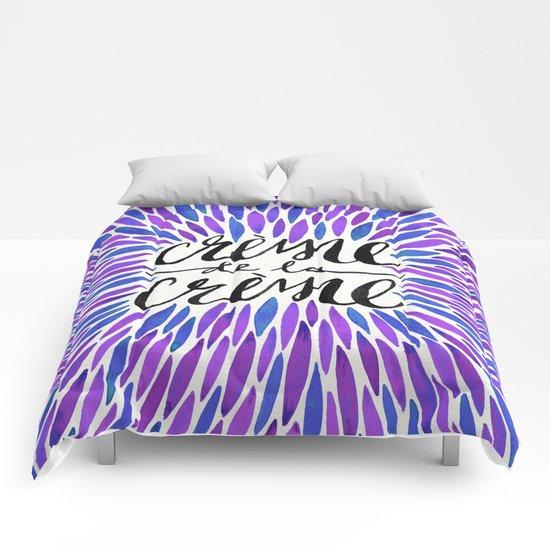 Crème de la Crème – Periwinkle Comforters