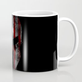 American Flag Spartan Helmet with Grunge Distress USA United States Coffee Mug