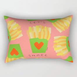 It's Such a Difficult Time So Let's Share - love Rectangular Pillow