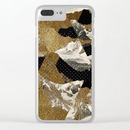 Zugspitze Pattern Clear iPhone Case