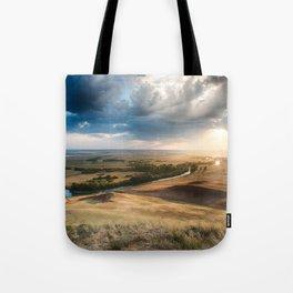 River into the Rain Clouds Tote Bag